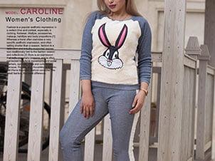 ست بلوز و شلوار دخترانه مدل Caroline (رنگ تیره)