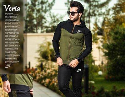 ست سویشرت وشلوار مردانه Nike مدل Veria(سبز)